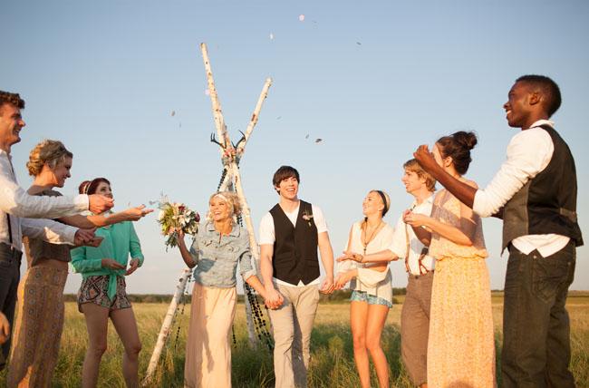 teepee ceremony wedding