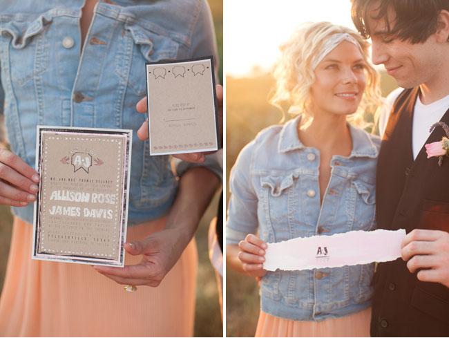 native inspired wedding invitations