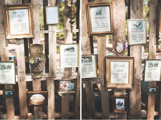hanging frames seating chart