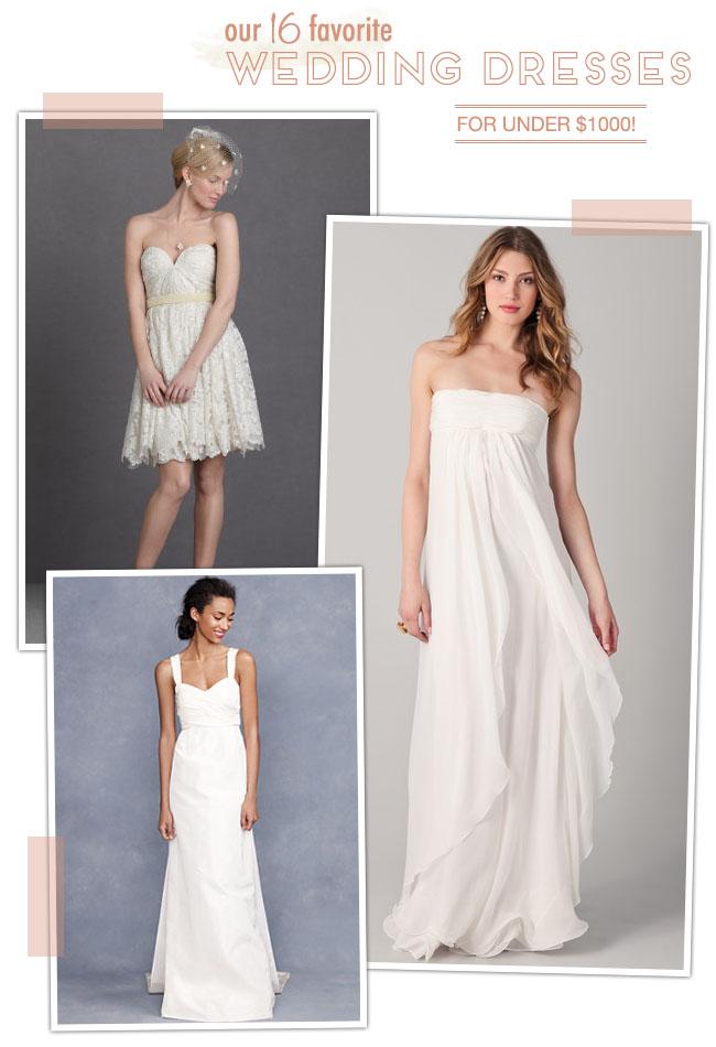 wedding dresses for under $1000