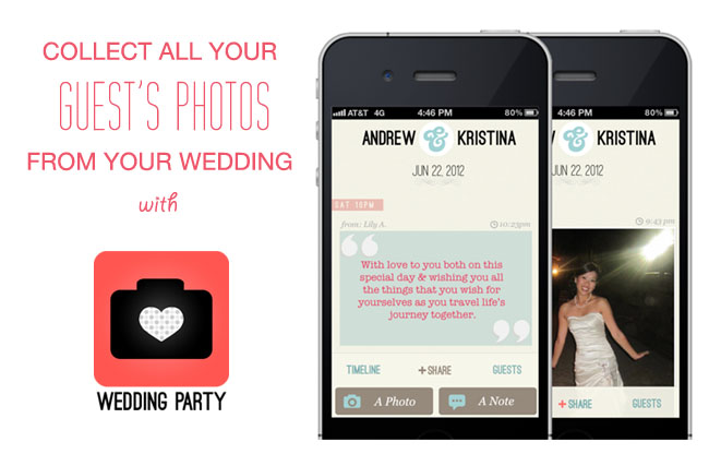 Collect photos from your guests phones with wedding party green some junglespirit Choice Image
