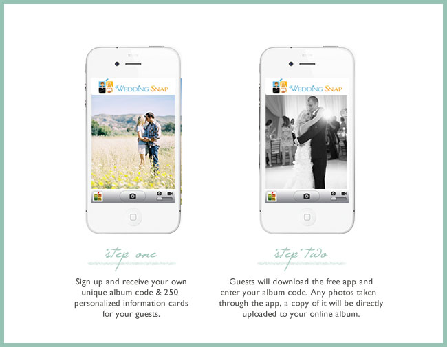 You Sign Up Create An Album Code Eg Ashley25 And Share That Among Your Guests Through 250 Personalized Information Cards Wedding Snap