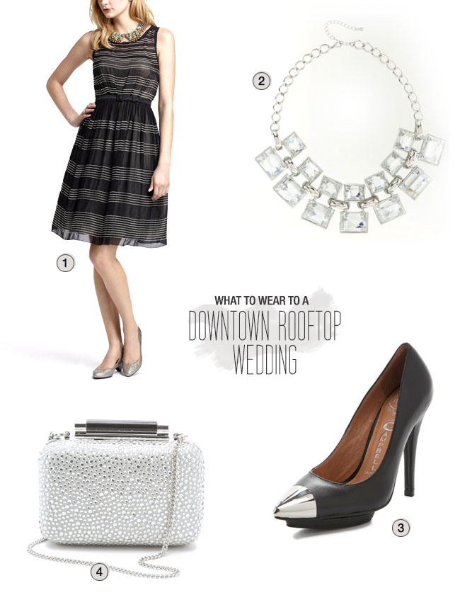What to Wear to a Downtown Rooftop Wedding
