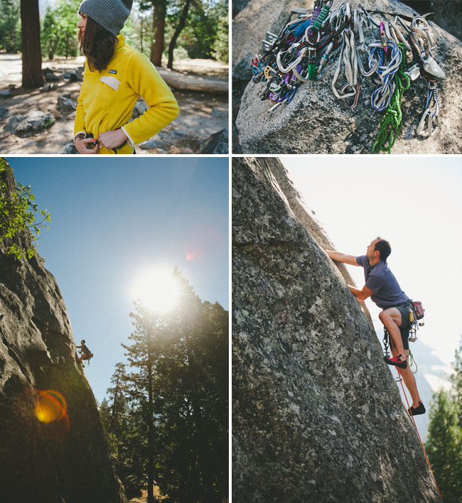 rock climbing elopement