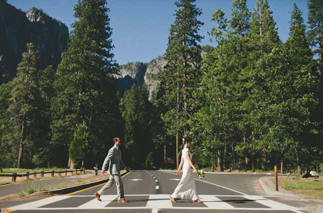 bride and groom yosemite beatles