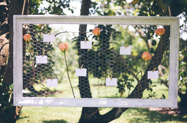 hanging wire place cards