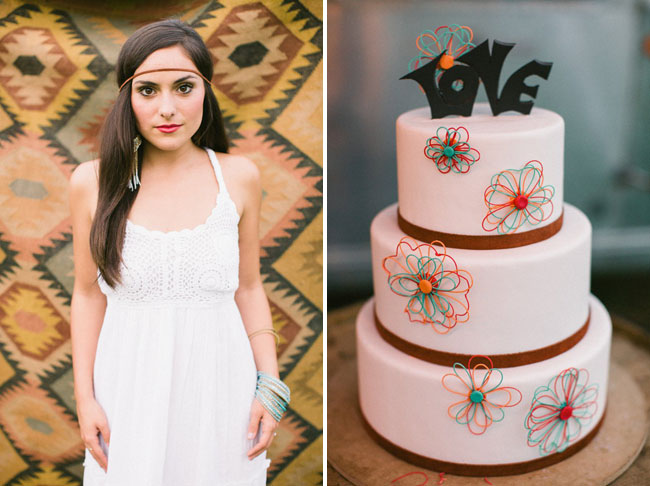 70s inspired love cake