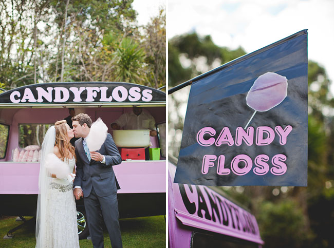 cotton candy bride and groom