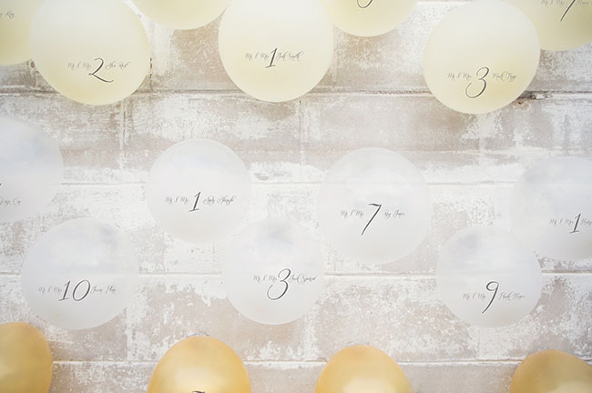 balloon place card