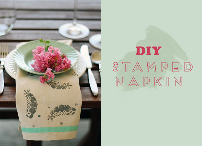 diy-stamped-napkin