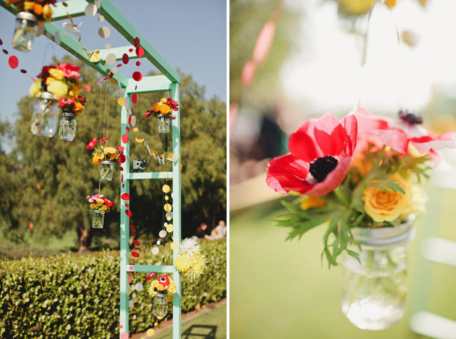 hanging flower jars