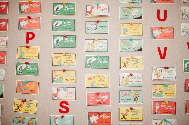 colorful dr seuss place cards