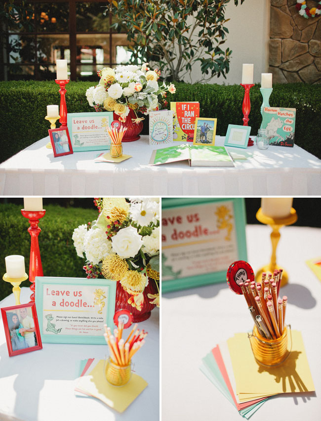 dr seuss guest book table