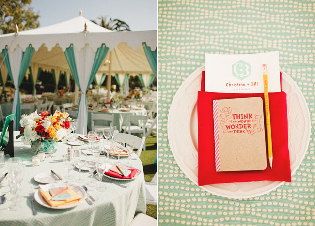 colorful wedding tent