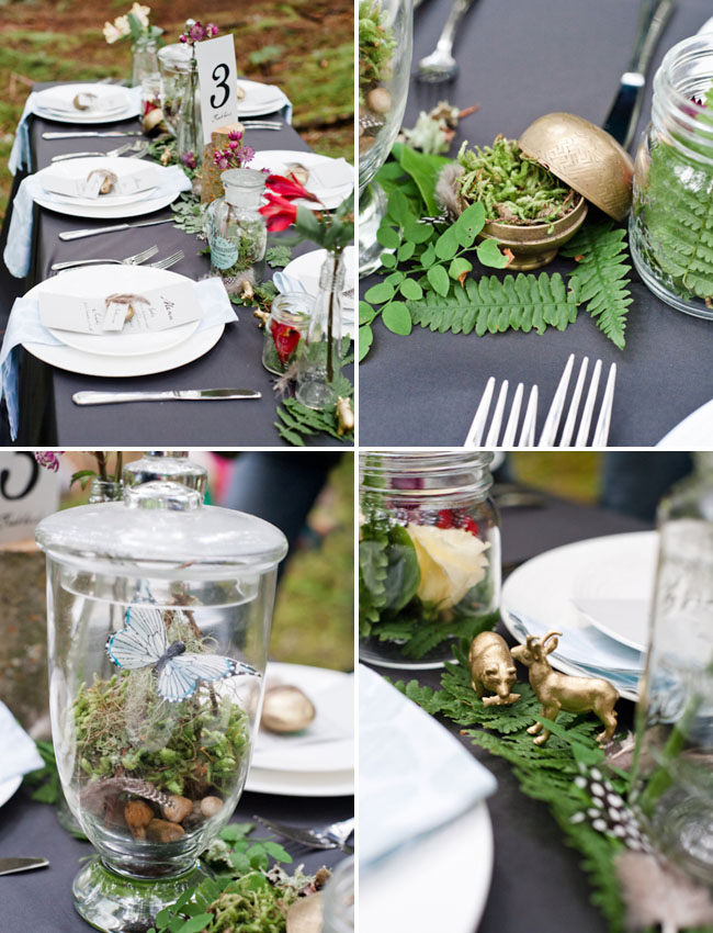 ferns tablescape decor