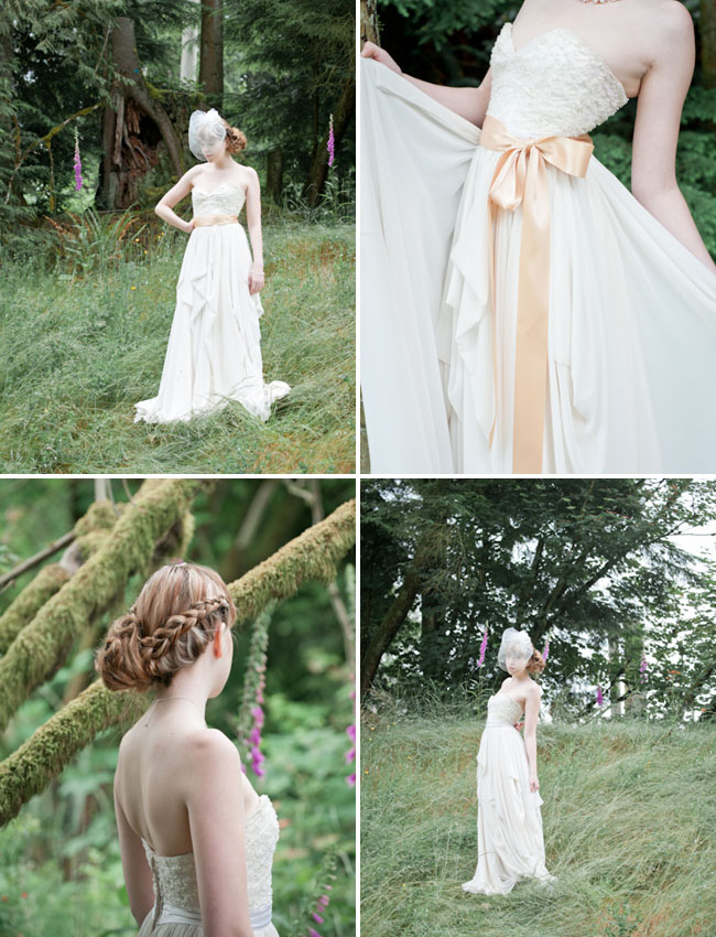 forest inspired bride