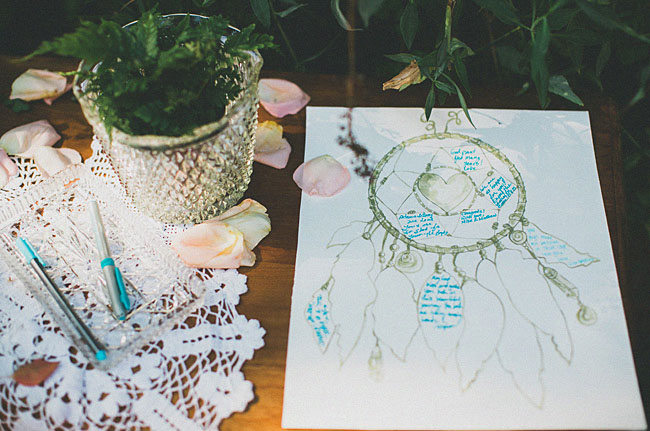 dream catcher guest book