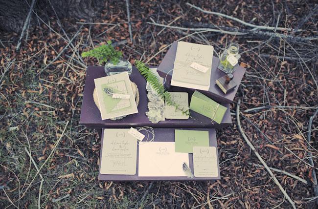 fall inspired wedding invitation