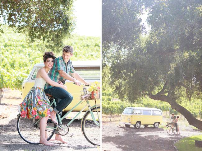 glamping engagement bicycle