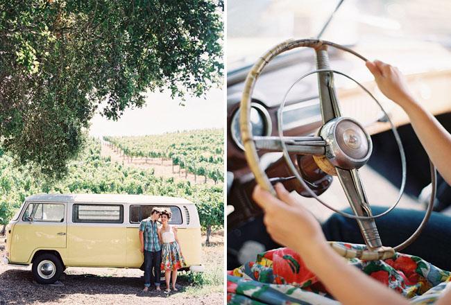 glamping engagement VW bus