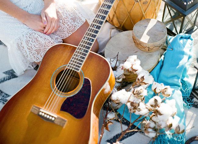guitar, cotton