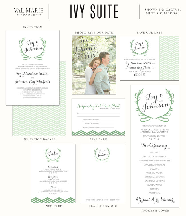val marie paper ivy suite