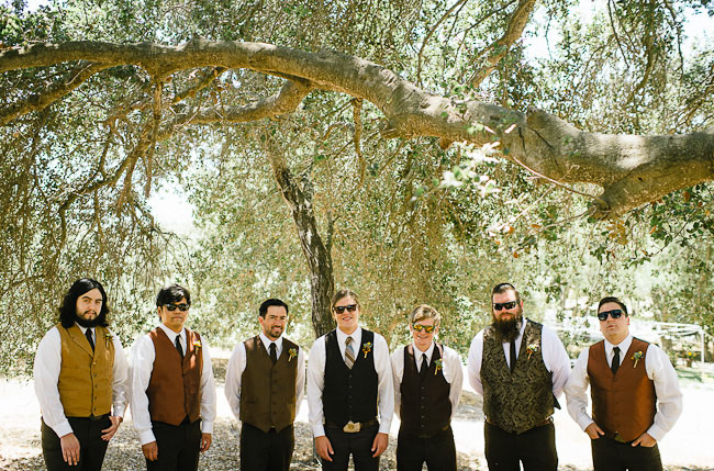 groomsmen wearing vests