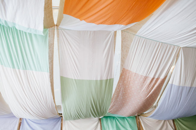 patchwork fabric canopy
