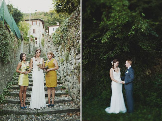 bridesmaids wearing yellow