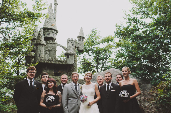 castle wedding party