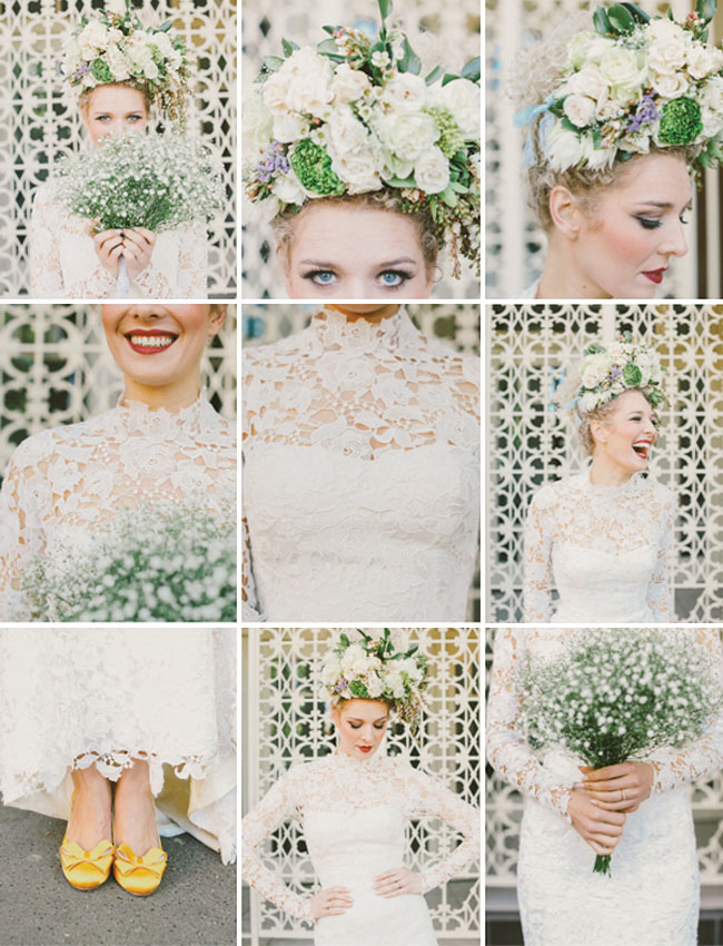 babys breath bouquet, bride