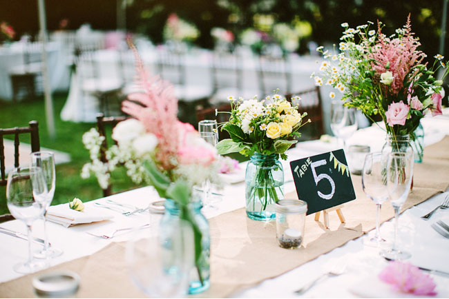 chalkboard easel table numbers