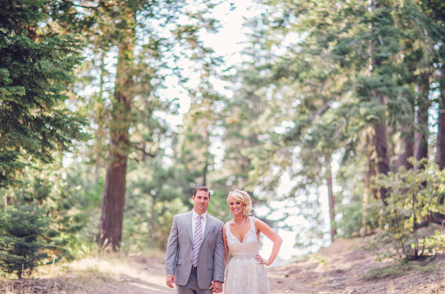 Forest Wedding Bride And Groom