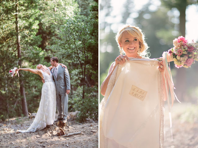 stitching in wedding dress