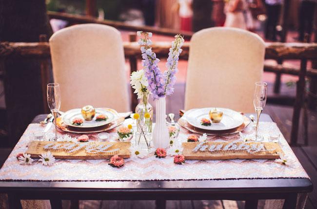 sweet heart table decor