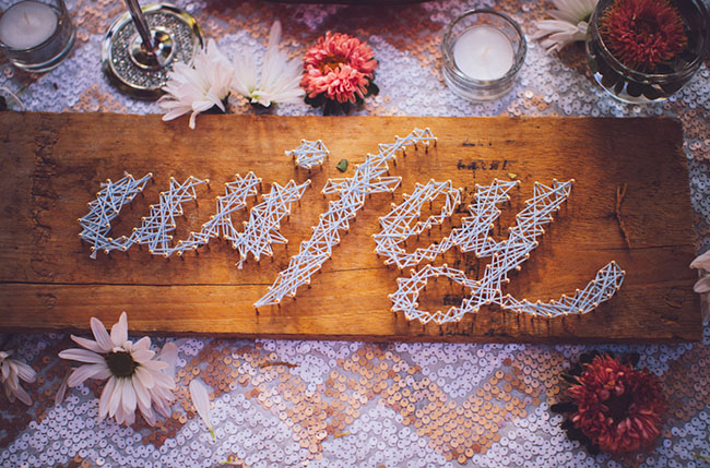nail art wedding sign