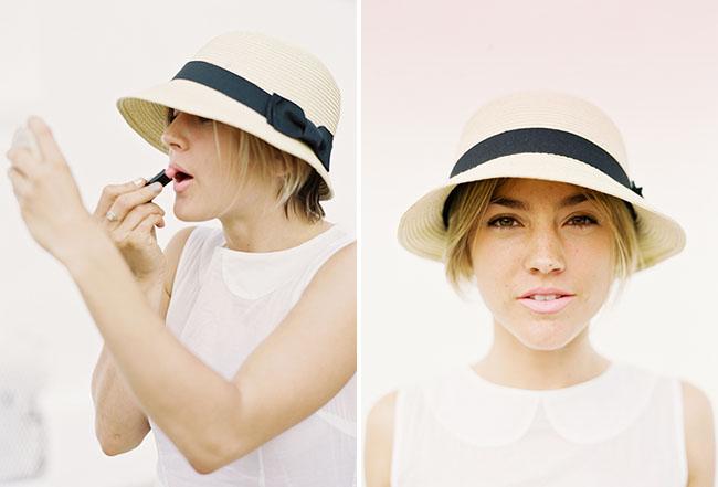 light pink lips