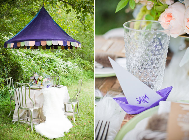 purple tent