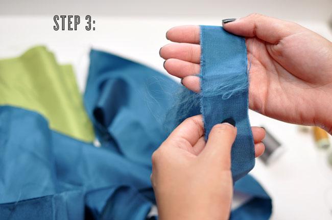 DIY pom pom garland step three