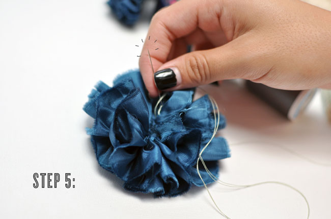DIY pom pom garland step five
