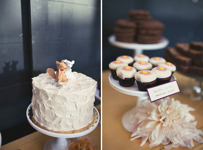 mouse and squirrel cake topper