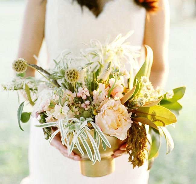 whimsical plant bouquet