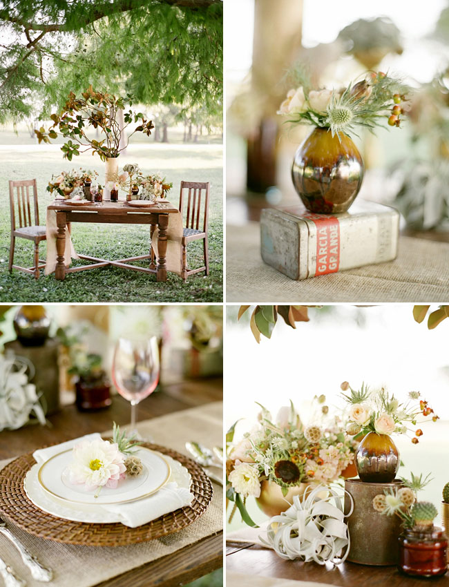 gold vases, golden centerpieces