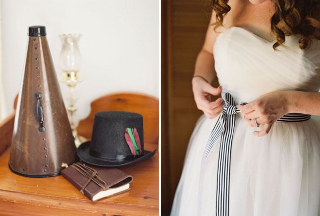 striped bridal belt