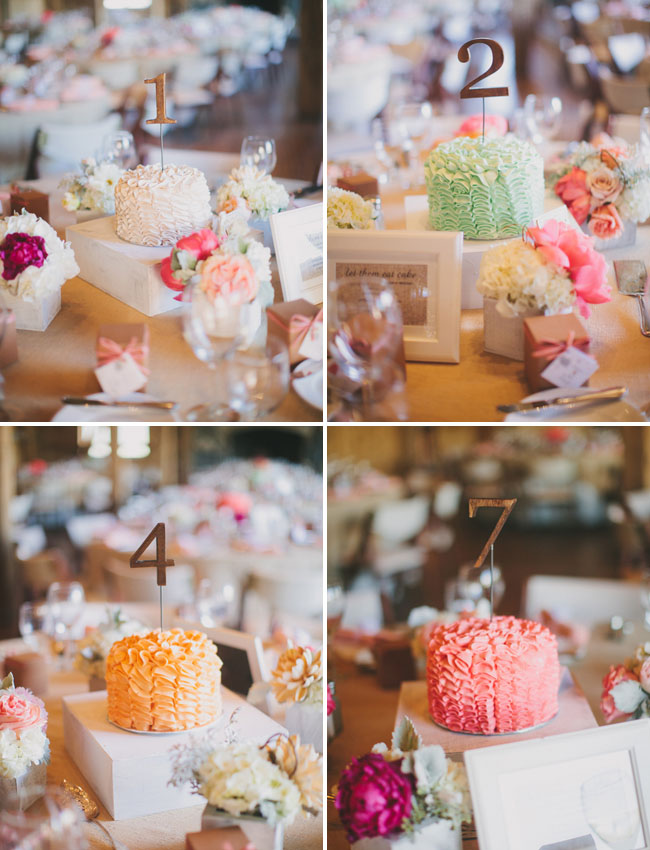 mini cake table numbers