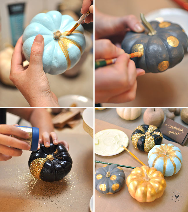 Diy painted pumpkins fall centerpieces painted pumpkins junglespirit