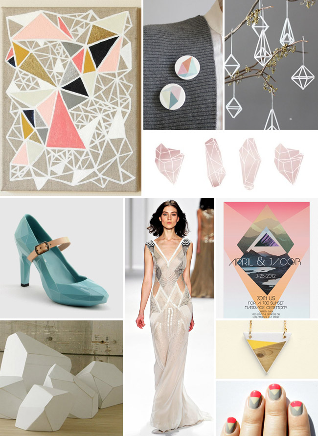 geo wedding inspiration board
