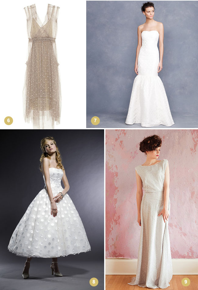 get-the-look-polka dot wedding dress