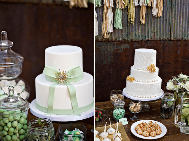 green bow cake