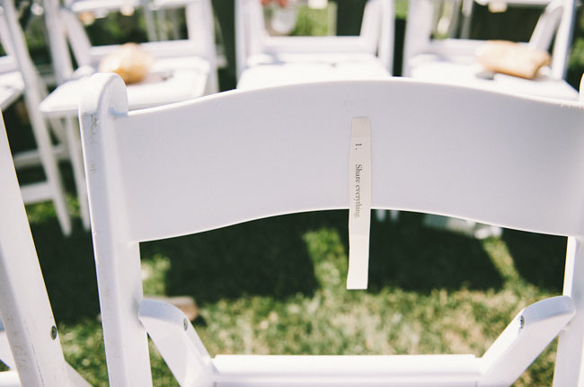 ceremony chair words